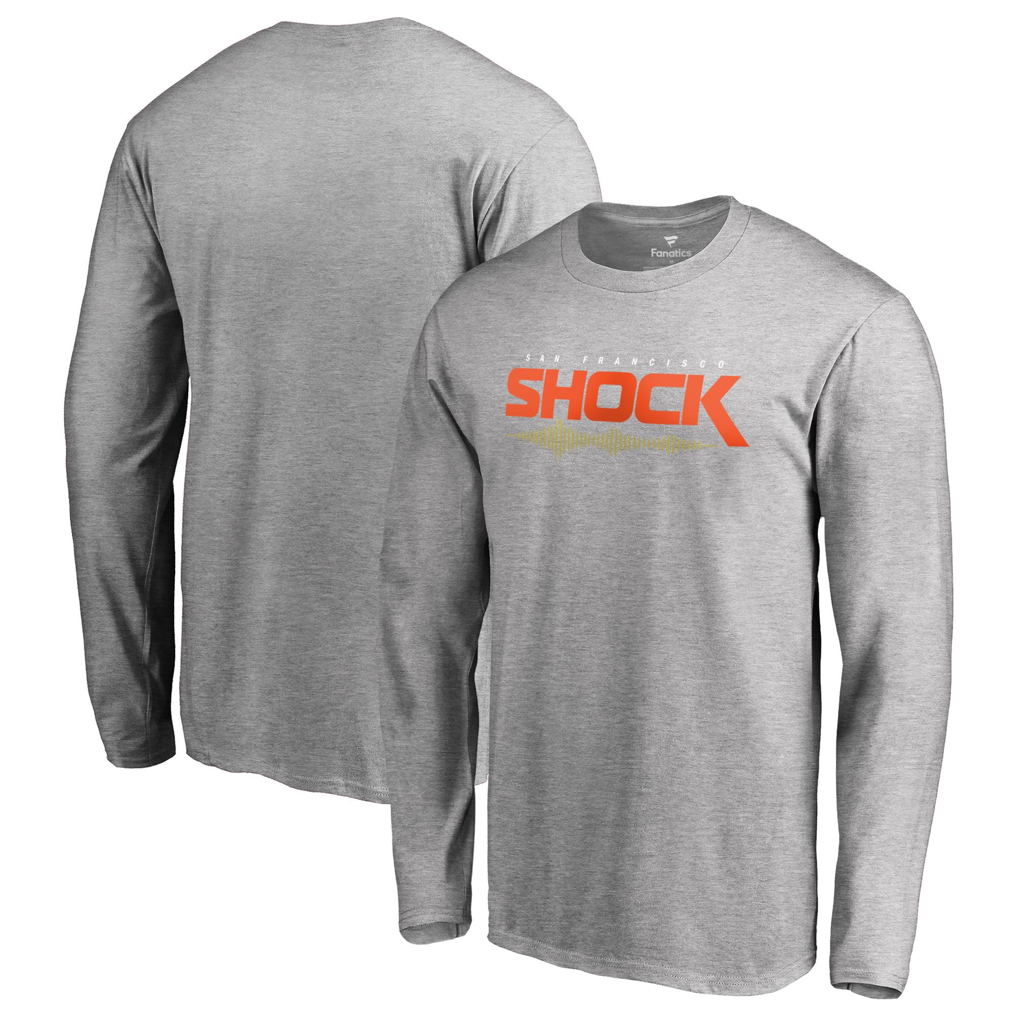 San Francisco Shock Fanatics Branded Team Identity Long Sleeve T-Shirt - Heather Gray