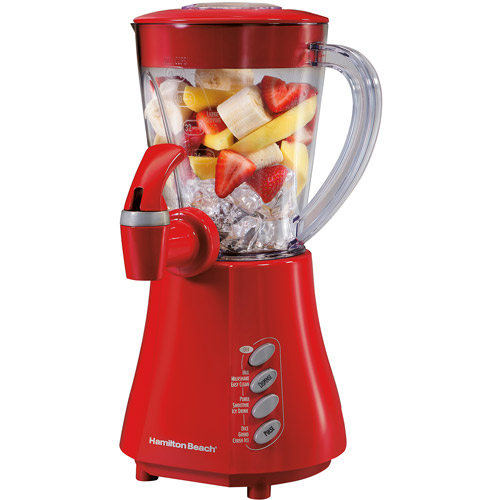 Hamilton Beach 4-Speed Wave Station Express-Dispensing Blender, Red