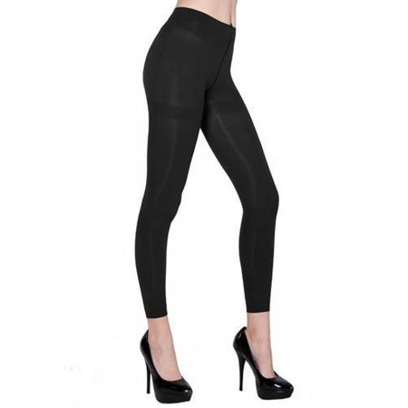 Basic Pink Leggings - Belle Donne - Women's Footless Leggings Basic Fashion Casuals Solid Color Tights - Black