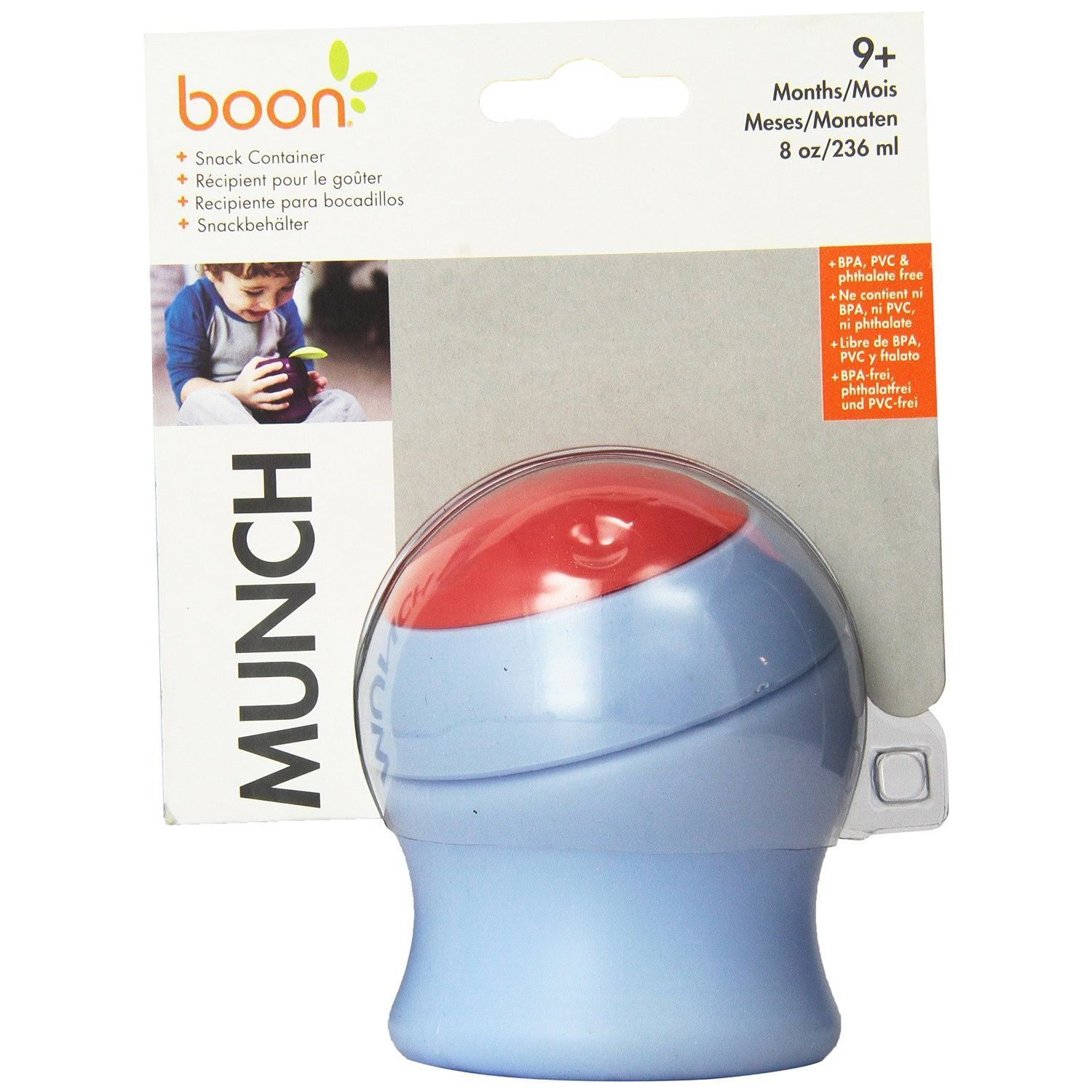 Boon 239 Munch Snack Container - Light Purple & Red