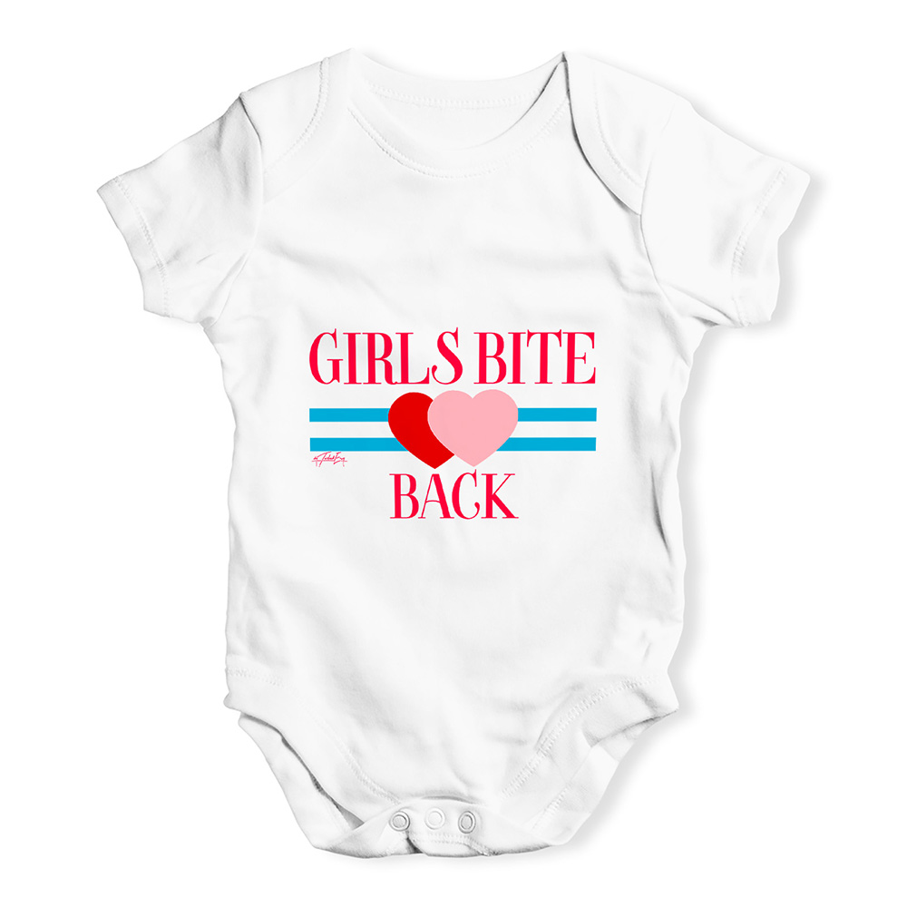 01091c2a4aa Baby Unisex Baby Grow Bodysuit Girls Bite Back Funny Baby Clothes -  Walmart.com