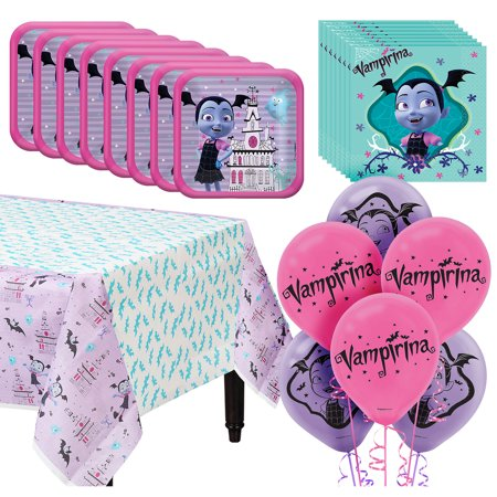 Vampirina Tableware Kit  For 16 39 pc w/ Plates Napkins Table Cover and Balloons - Sweet 16 Plates And Napkins