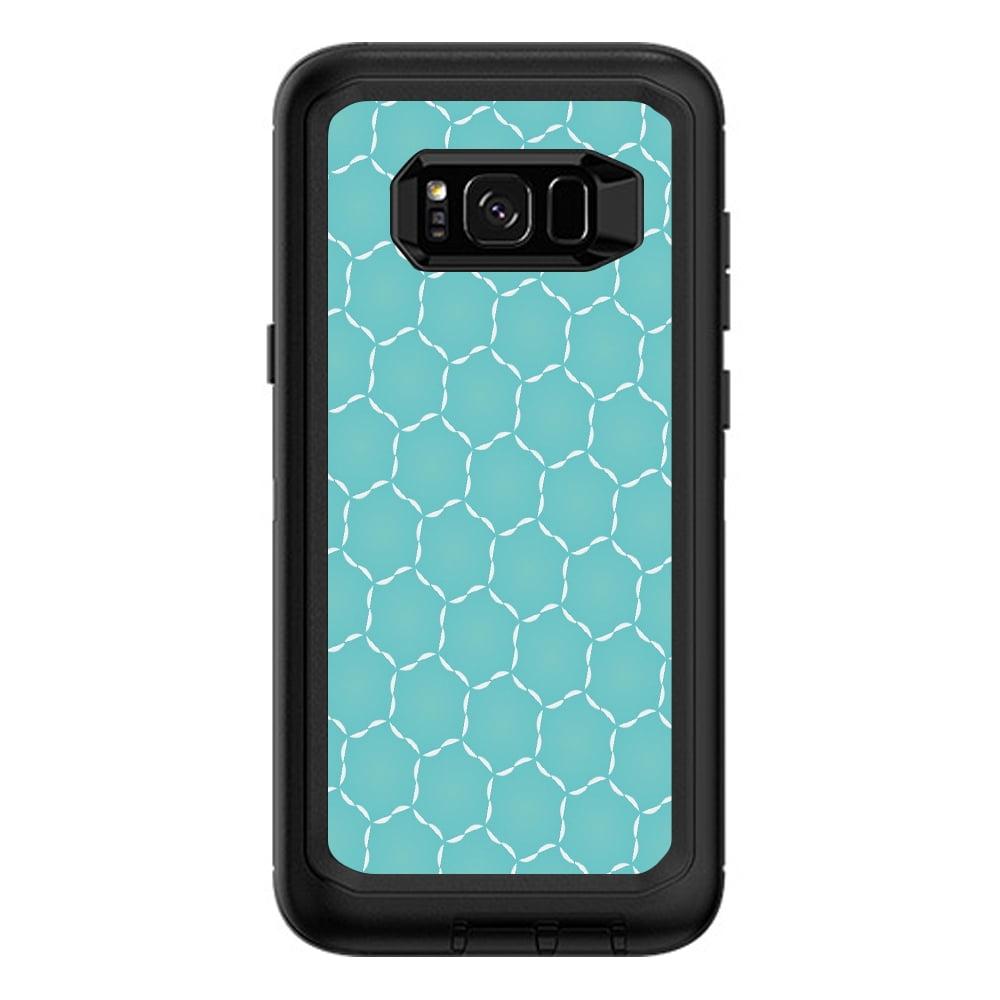 Skins Decals For Otterbox Defender Samsung Galaxy S8 Plus / Blue Hexagon