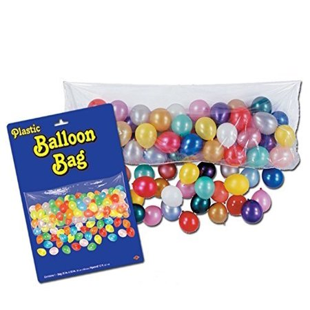 Balloon Drop Nets (Plastic Balloon Drop Bag 3ft x 6ft -8in Pkg/3, Economy New Years Eve Balloon Drop Bag By)
