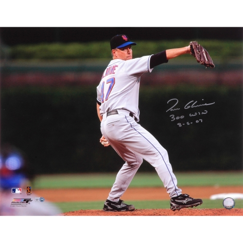 """Tom Glavine New York Mets Fanatics Authentic Autographed 16"""" x 20"""" 300th Win Photograph with 300 Win 8-5-07 Inscription - No Size"""