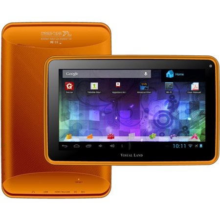 Refurbished Visual Land Prestige ME-107-L-8GB-ORG 7-Inch Tablet with 8GB Memory (Orange)