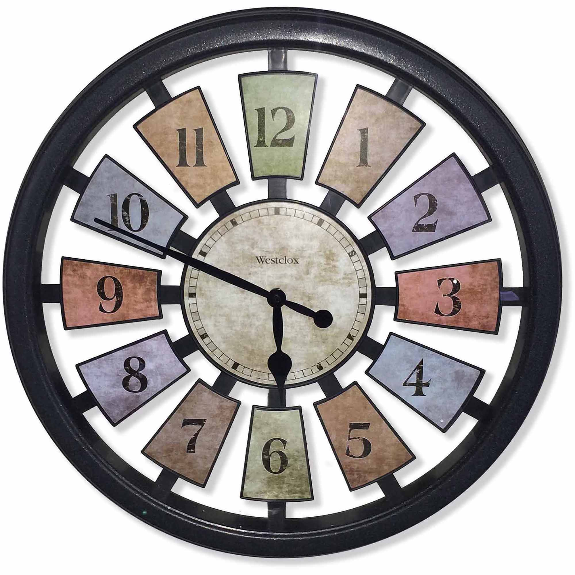 Wall clocks westclox 36014 18 color panel wall clock amipublicfo Images
