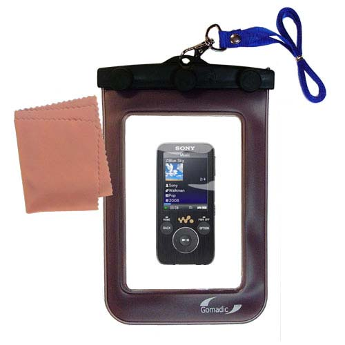 Gomadic Clean and Dry Waterproof Protective Case Suitablefor the Sony Walkman NWZ-S739F to use Underwater