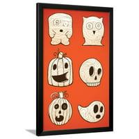 Halloween Characters Framed Print Wall Art By artplay