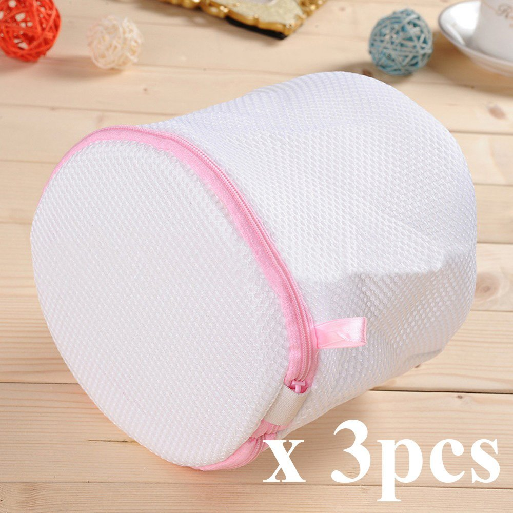 INTBUYING 3pc Mesh Laundry Bra Wash Bags for Lingerie, Bras, Underwear, Stocking,and Luxury Garment, Travel Laundry Bag(#249212)