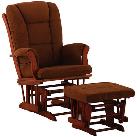 storkcraft tuscany glider and ottoman cognac and