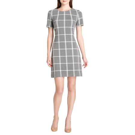Wholesale Women Dress (Plaid Knit Fit-&-Flare Dress)