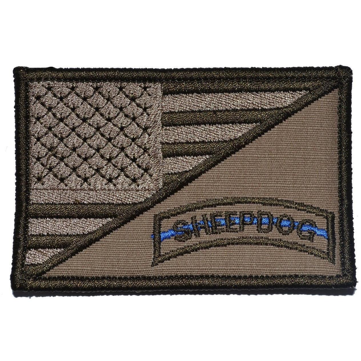 Sheepdog Tab USA Flag 2.25x3.5 Patch