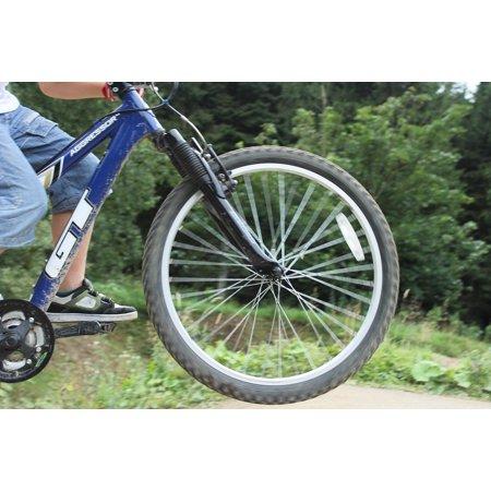 LAMINATED POSTER Jump Mountain Biking Bike Rider Leaping Bicycle Poster Print 24 x 36
