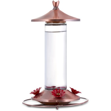 Perky-Pet 12 oz Elegant Copper Glass Hummingbird Feeder
