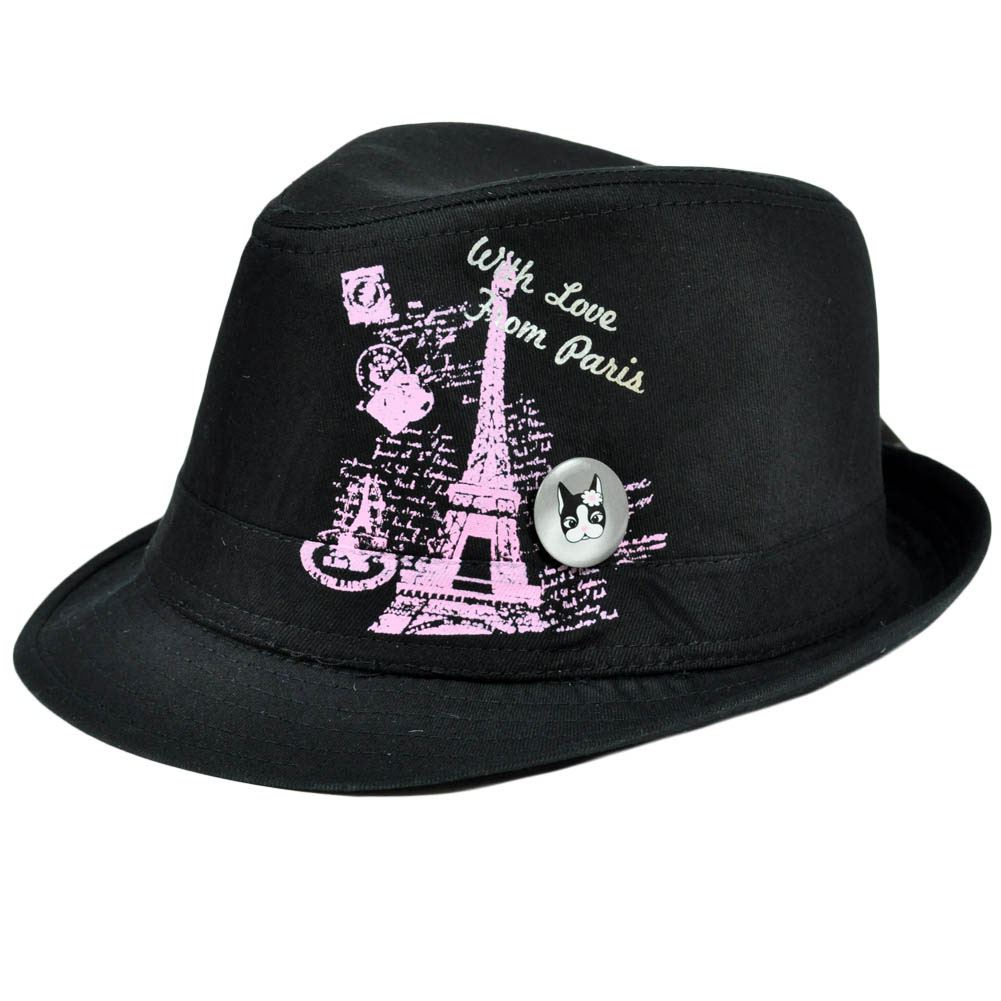 13fce2e9e Fedora Trilby Youth Junior Girls Paris Hat Pin Kids Stetson Rebecca Bonbon  Child