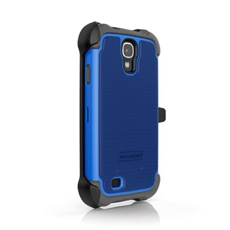 Ballistic MAXX Case with Holster Belt Clip for Samsung Galaxy S4 - Gray/Cobalt ()