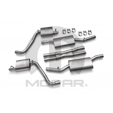 Mopar P5160039 Dual Cat Back Exhaust System for 5.7L Engines Dodge Charger Chrysler 300 Mopar Cat Back Exhaust