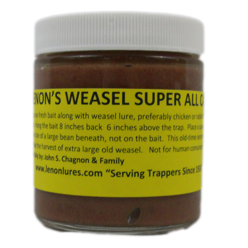 Lenon's Weasel Super All Call Weasel Lure / Scent Size 4 oz. Bottle