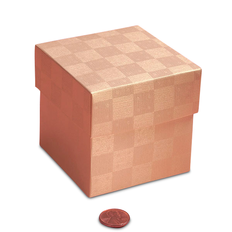 """Pearl Ivory Cube Small Favor Boxes 4"""" X 4"""" X 4"""" 