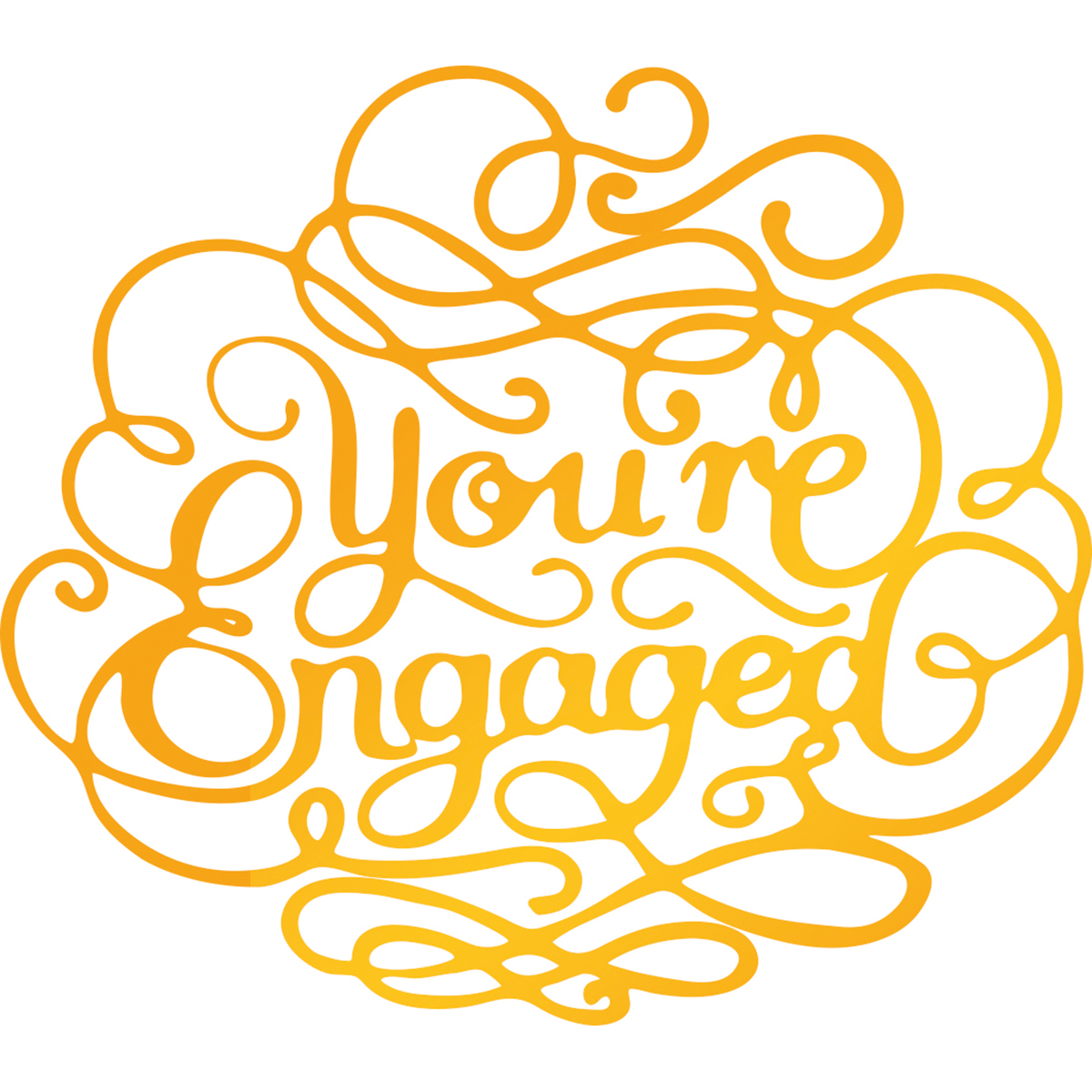 """Ultimate Crafts Classic Sentiments Hotfoil Plate 3""""X2.6""""-You're Engaged"""