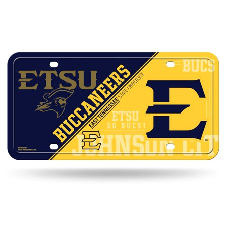 East Tennessee State Buccaneers NCAA 12x6 Auto Metal License Plate Tag CAR TRUCK