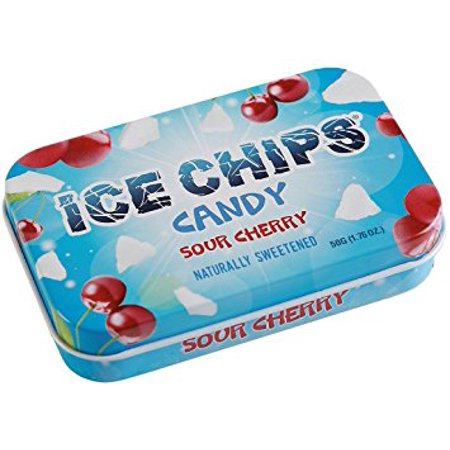 Ice Chips (ICE CHIPS Xylitol Candy Sour Cherry, 1.76 oz)