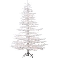 Fraser Hill Farm 7.5 Ft. Arctic Pine Artificial Christmas Tree with Multi-Color LED String Lighting