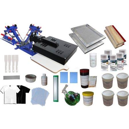 Techtongda 3 color 1 Worktable Screen Printing Press Dryer Starter Materials Kit #006946