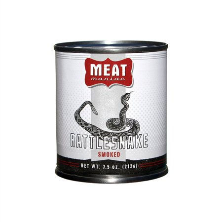 Meat Maniac Smoked Rattlesnake Gourmet Canned Wild Game