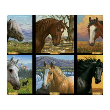 Saxon Horse Blankets - CafePress - HORSE DIARIES POSTER - Soft Fleece Throw Blanket, 50