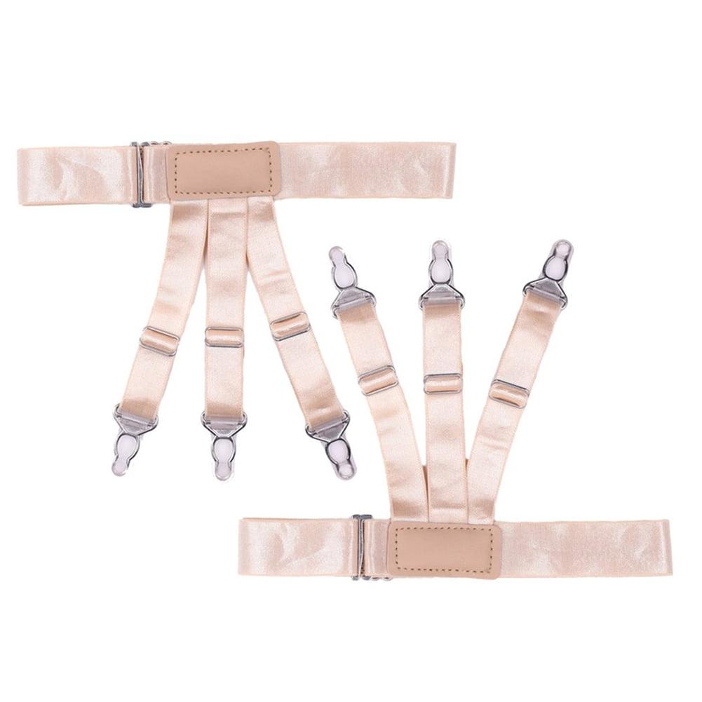 Shirt Stays Garter Sock Elastic Holder Strap Non-Slip Suspender Locking Clamp