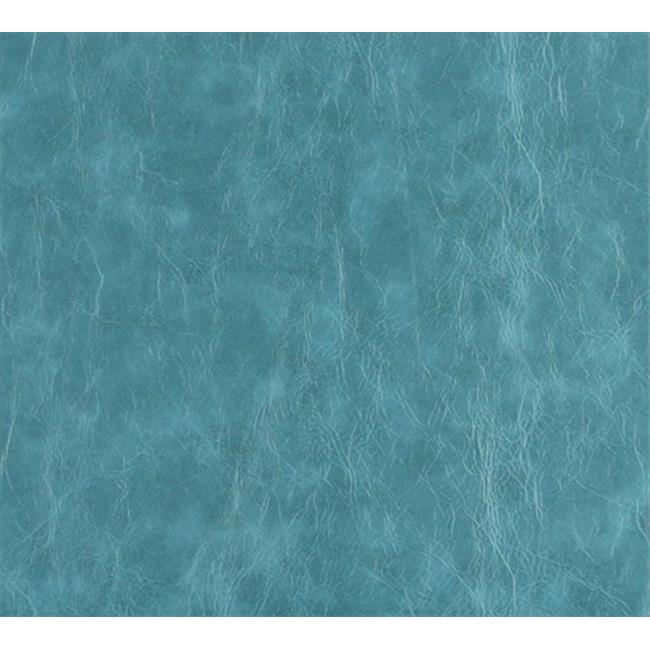 54 in. Wide Turquoise, Distressed Leather Upholstery Grade Recycled Leather