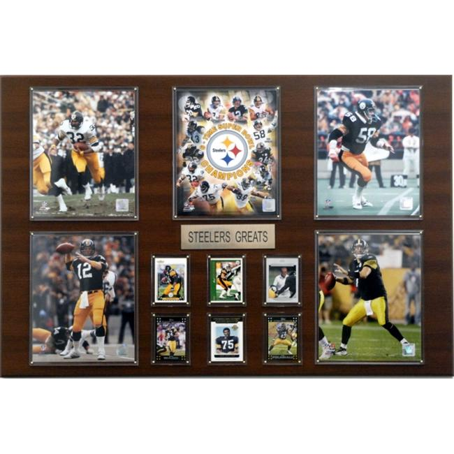 C & I Collectables 2436STEEL NFL Pittsburgh Steelers Greatest Star Plaque