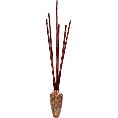 Bamboo Poles, Burgundy, 6pc