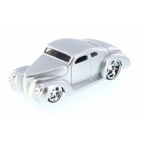 1940 Ford Coupe Custom, Silver - Jada 90281LC - 1/24 Scale Diecast Model Toy Car (Brand New but NO BOX) -  Jada Toys
