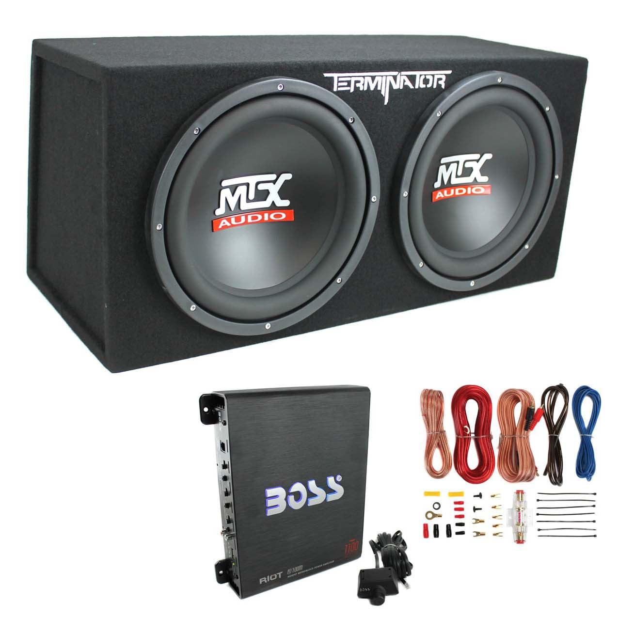 "Mtx Audio TNE212D 12"" 1200W Dual Loaded Car Subwoofer Enc..."