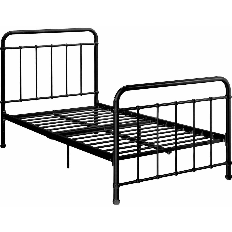 DHP Brooklyn Iron Bed Black Multiple Sizes Walmart