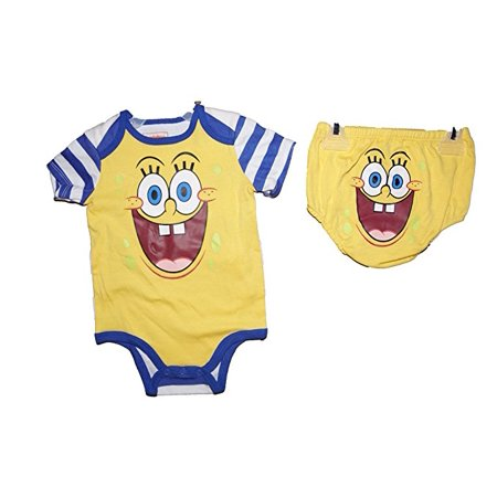 [P] Disney Infant Girls' Spongebob Square Pants Creeper with Diaper Cover Set 3/6M](Spongebob Girl)