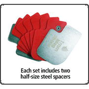 """Mag Shim Standard, 1-1/8"""" Total Height, Powerful Magnets 8 - 1/8"""" Thick Plasstic Shims 2 - 1/16"""" Thick Steel Spacers"""