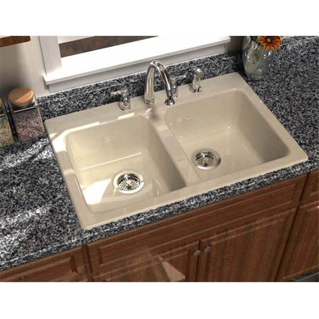 SONG S-8430-4-61 Prima 33 x 22 In. Kitchen Sink - Biscuit
