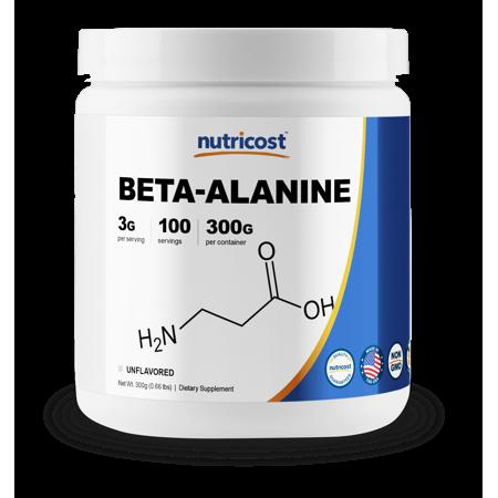 Nutricost Beta Alanine Powder 300 Grams - Pure Beta Alanine, Gluten Free & Non-GMO - Food Original 300 Grams Powder