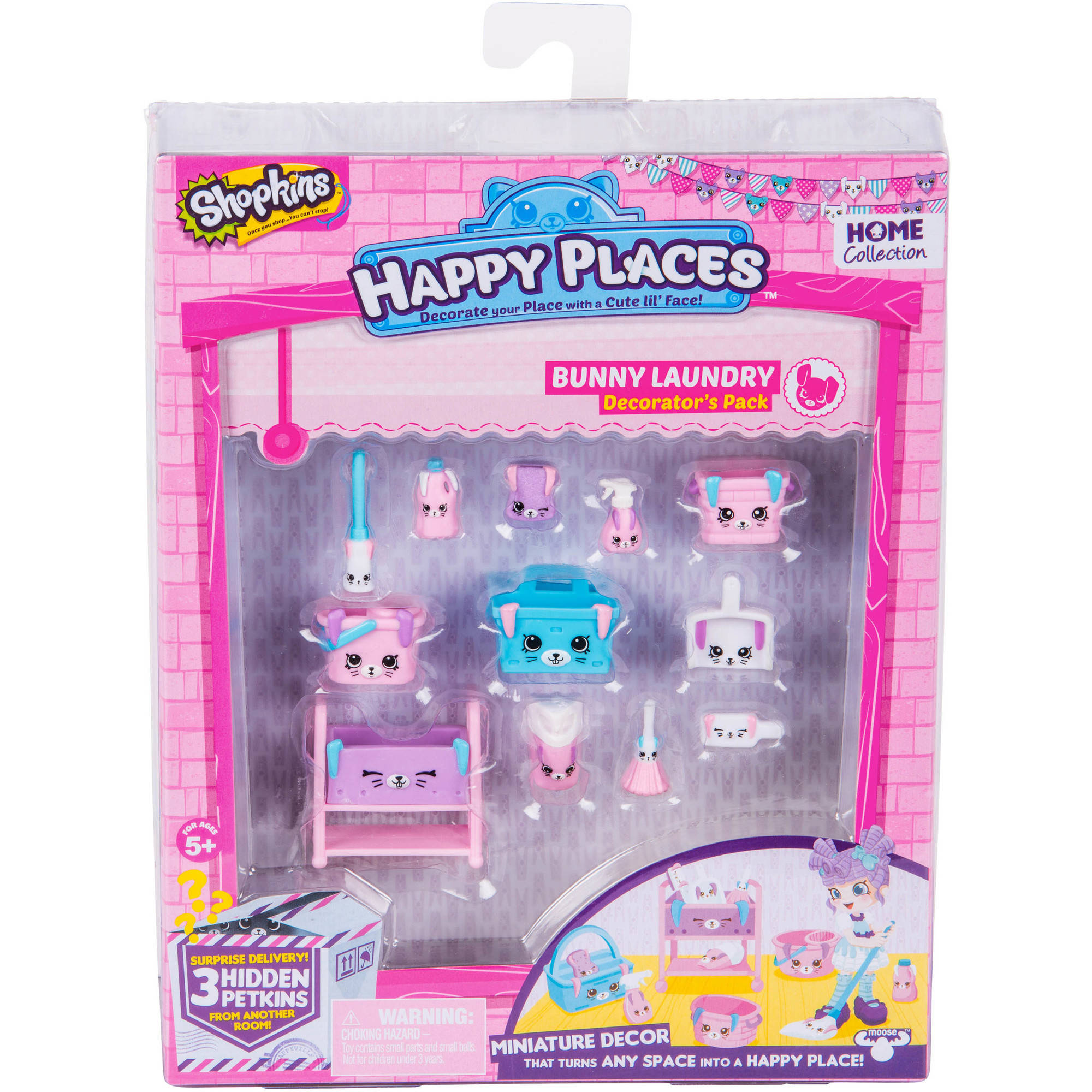 Happy Places Shopkins S2 Decorator Pack, Bunny Laundry