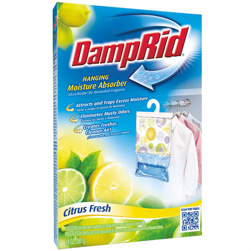 DampRid Hanging Bag Moisture Absorber Citrus Fresh, 14 oz