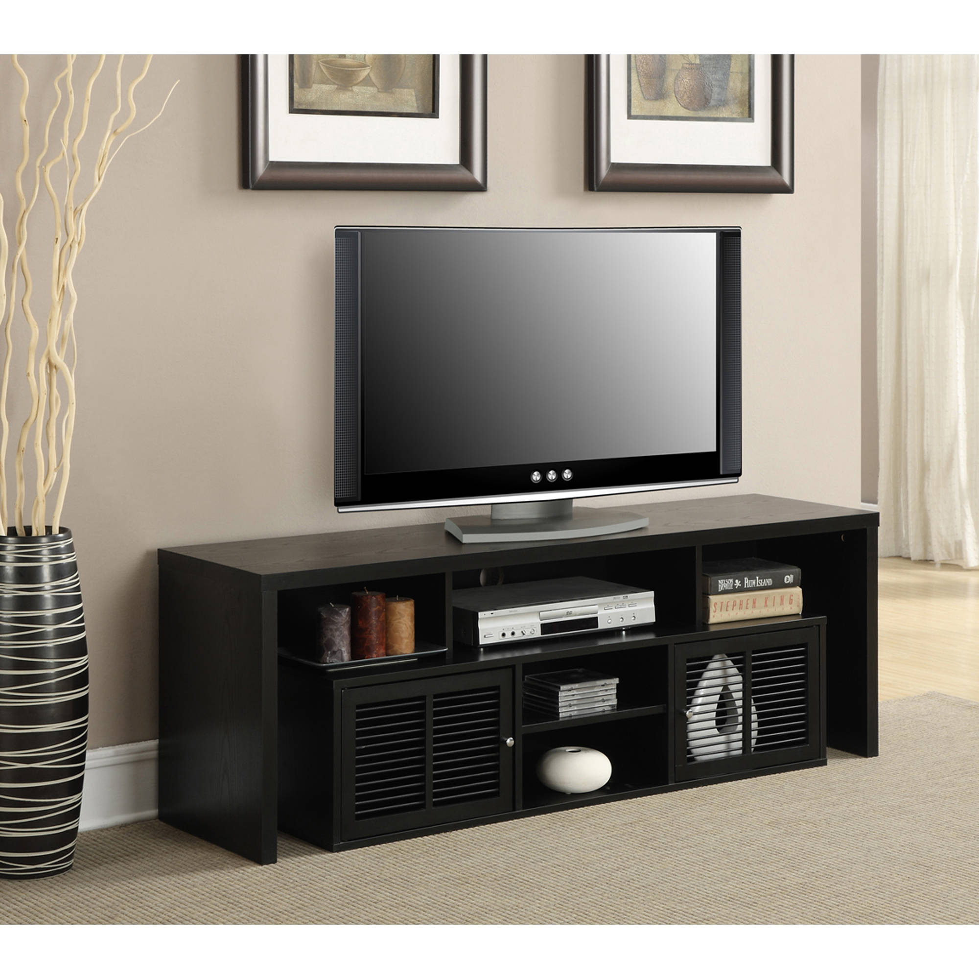 "Convenience Concepts Lexington TV Stand for TVs up to 60"" Walmart"