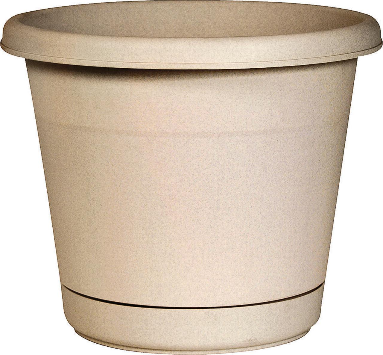 PLANTER/SAUCER ROLLED RIM 16IN