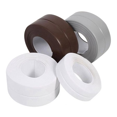 Bathtub Wall Sealing Caulk Strip PE Self Adhesive Waterproof Sealing Tape Strip Caulk Sealer Decorative Trim for Kitchen Bathroom Shower Toilet Wall Corner