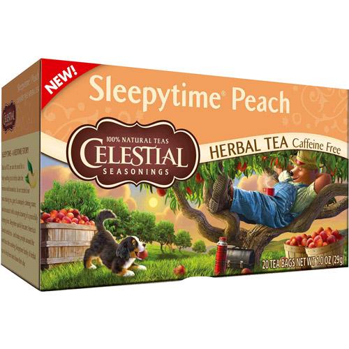 Celestial Seasonings Sleepytime Peach Herbal Tea Bags, 20 count, 1.0 oz