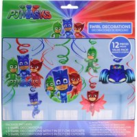 PJ Masks Swirl Decorations Value Pack (12 Pieces)