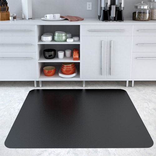 Deflecto EconoMat 46 x 60 Chair Mat for Hard Floor, Rectangular, Black
